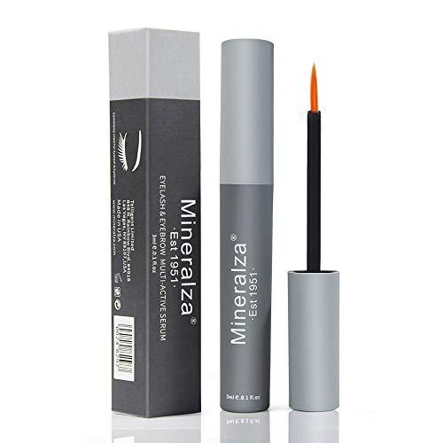 mineralza Eyelash & Eyebrow Serum – Eyelash Growth Serum to Grow Lashes – Eyelash Enhancer – Eyebrow Serum Rapid Growth…