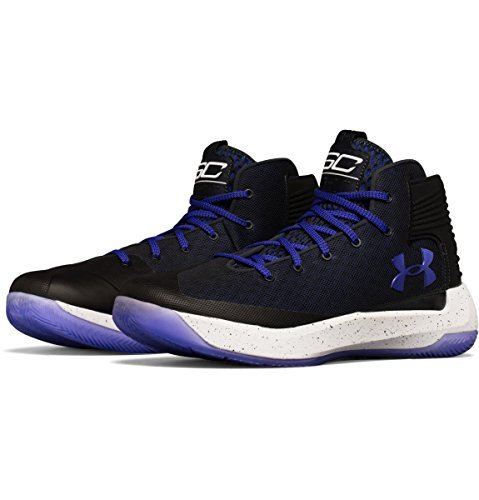 Under Armour Men's Curry 3 Basketball Shoe (13, Anthracite/White/Constellation Purple)