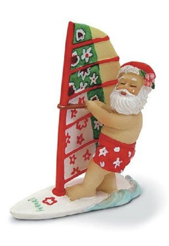 Island Heritage Windsurfing Santa Ornament (Ornament Santa Surfing)