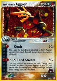 Team Magma/'s Aggron Holo Rare Pokemon Card Team Aqua vs Magma 14//34