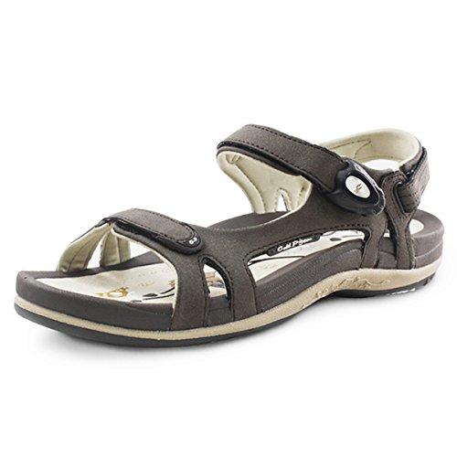 Gold Pigeon Shoes GP5991W Women Snap Lock Sandals: 9179 Brown, EU39 (Sandals Waterproof Women)