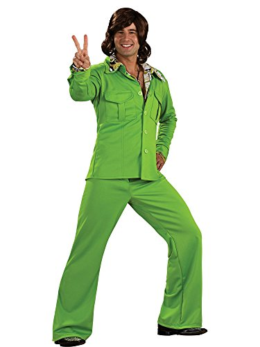 Leisure Suit Adult Costume Green - (70s Leisure Suit)