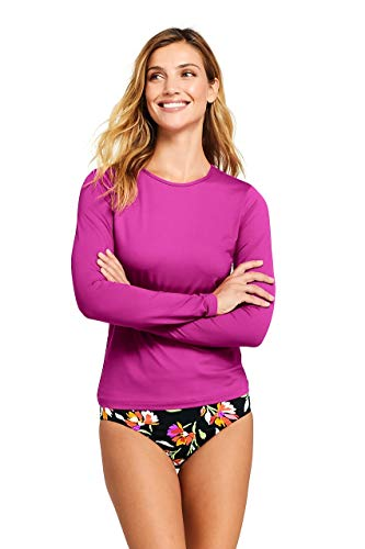 Lands' End Rash Guard for Women | Long Sleeve Rash Guard Women's Swim ()