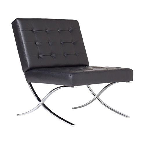 (Studio Designs 72008 Bonded Leather Atrium Accent Chair, Black)