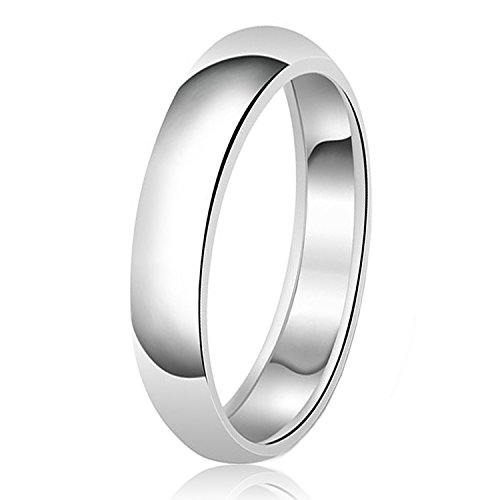 5mm Classic Sterling Silver Plain Wedding Band Ring, Size 6