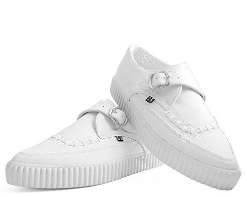 Liane T Shoes De Pointu Ezc Blanc u Moine Boucle Sneaker k qWrBYfq