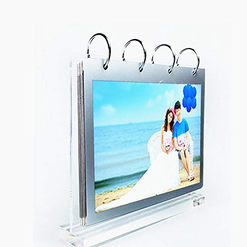leoyoubei Clear Acrylic Sided Frames Display Holder with Vertical Stand and 4mm Thicker Menu Holders,PVC Folder 7 Shows 14 Photos Photography Studio/Album(4x6