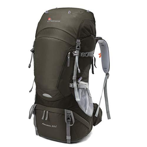 MOUNTAINTOP 50L/55L Rucksack Trekkingrucksäcke für Wandern Camping Reisen Backpacking Bergsteigen