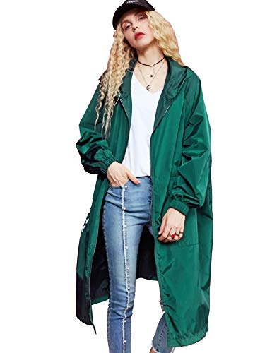 Elf Sack Womens Windbreaker Long Sleeve and Loose Fastion Coat with BF Style Drawstring Design …