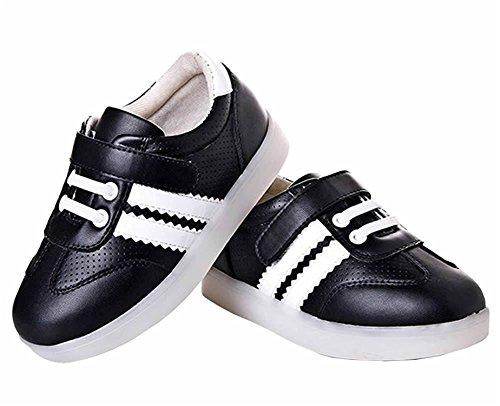 Reinhar PrevailingHigh Quality LED shoese KIDS USB Charging LED Lighted Luminous Sneakers for Unisex Men Women 7 color USB rechargeable LED lights LED Shoes Black11 M US Little (Dillards Robes)