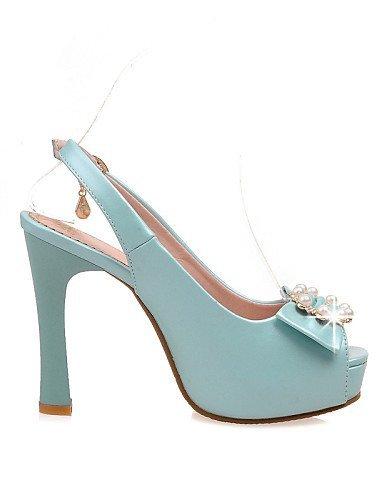 Platform Womens Peep Pink Shoes ShangYi Pink Blue Sandals Chunky White Dress amp; Party Heel Wedding Toe Evening nYIqIda