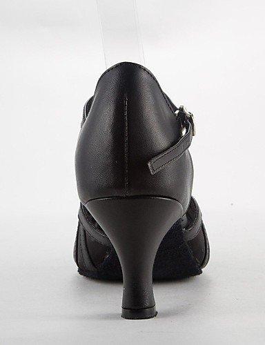de femmes noir shangyi Paragraphe Sandales danse Latin satin Pfennig noir Chaussures buckie ZWSx8qfUw