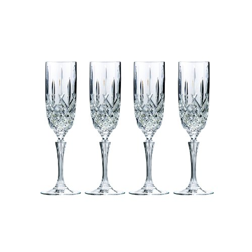 Marquis by Waterford Markham Champagne Flute, Set of 4 (Gold Crystal Stemware)