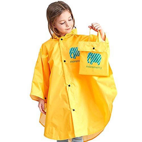 NinkyNonk Kids Raincoat Portable Reusable Rain Poncho for 5-12 Years Boys - Girls Kid Poncho