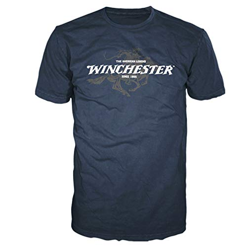 - Winchester Official Men's Legend Rider Graphic Short Sleeve T-Shirt (Large, Navy)