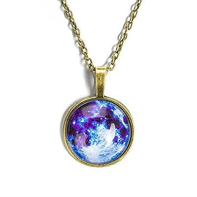 RENYZ.ZKHN _ Dream Star Necklace Pendant Necklace Pendant Female Time Luminous Gemstone Pendant Necklace, Diamond Necklace,