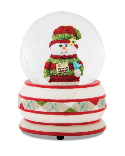Pavilion Gift Company The Sockings 93043 Snowman 100mm Musical Water Globe Figurine, Special Friend, 6-Inch