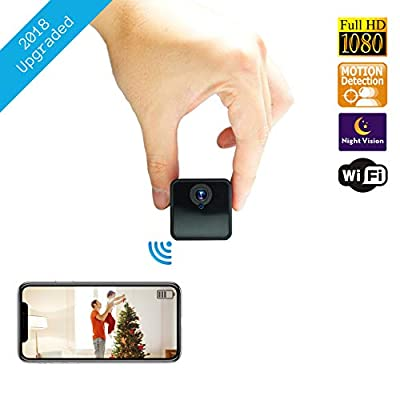 Spy Hidden WiFi Camera | Home Wireless Security Surveillance Mini Nanny USB Cam | Live Motion Detection Remote Phone Monitoring by Nano Hertz