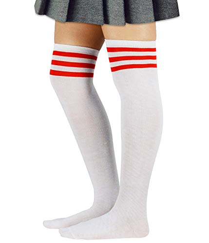 Zando Women Long Stripe Thigh High Socks Sporty