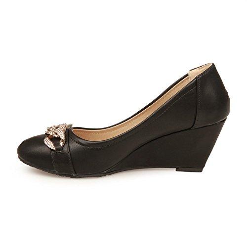 Chaussures Noires De La Modeuse Des Femmes YaSO6X9