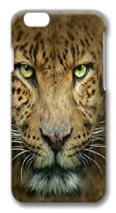 Big Face Leopard Polycarbonate Hard Case Cover for iphone 6 plus 5.5 inch 3D