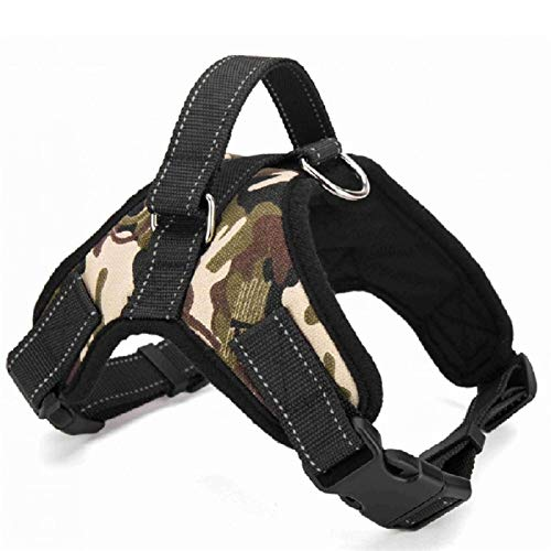 Dog Supplies Pet Dog Harness Collar Vest Dog Harness Pet Supplies Poke is suitable for large, medium and smallScamouflage