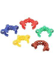 menolana 5pcs Plastic Joint Clip NS Conical Clips Glass Keck Clamps 14-40 Mm - Random, 19mm