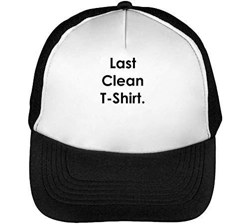 Negro Hombre Clean Beisbol Snapback Gorras Blanco Last n0XWqRwR
