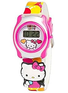 Hello Kitty Girls LCD Watch with Slide On Character