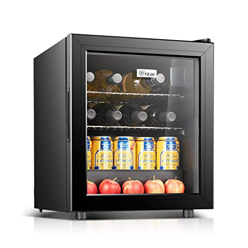 Refrigerated Wine Cooler Constant Temperature Ice Bar Home Small Single Door Refrigerator Wine Cooler Office (Color : Black, Size : 40.854068CM)