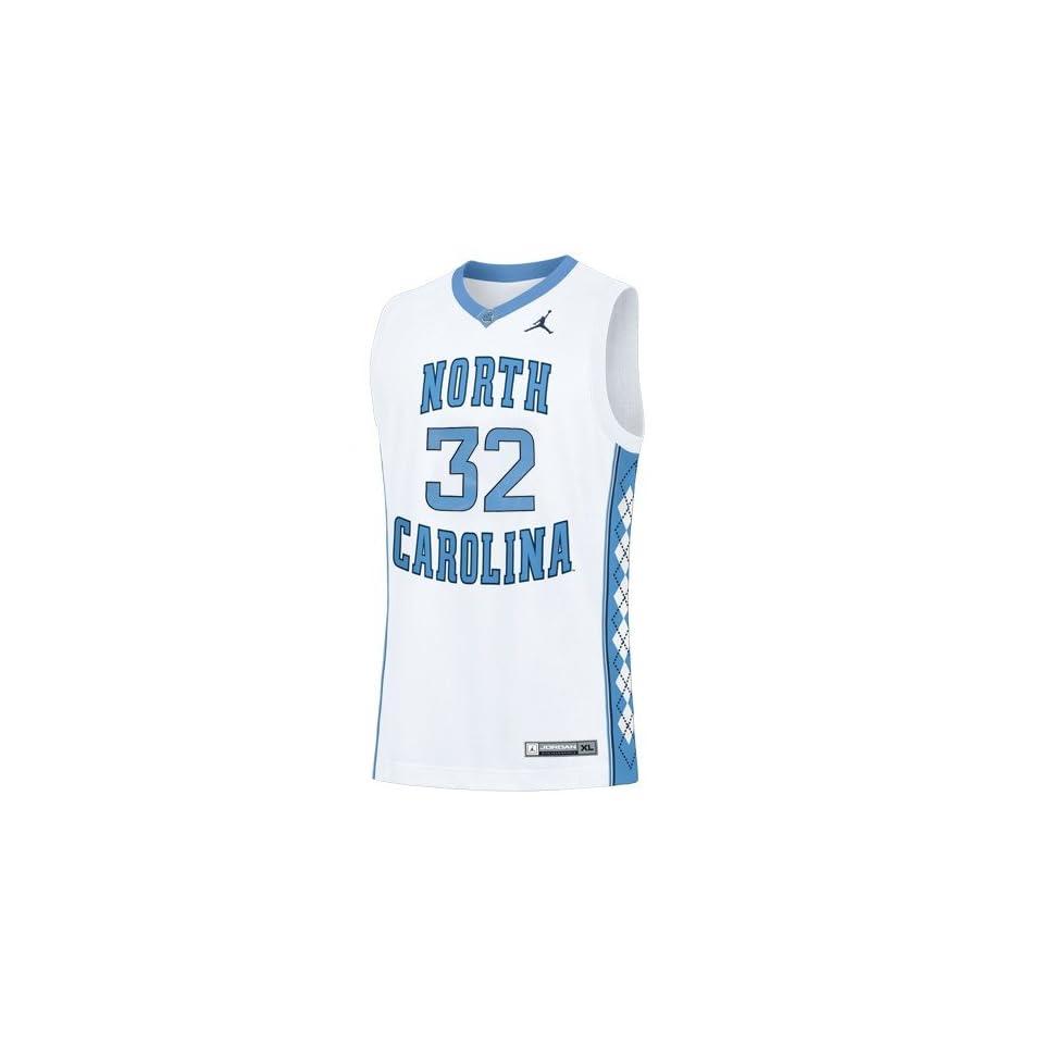 NCAA Nike North Carolina Tar Heels (UNC) #32 White Replica Basketball Jersey