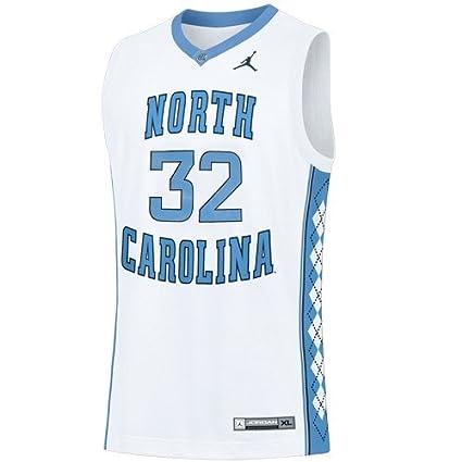 6188a038282 Nike NCAA North Carolina Tar Heels (UNC)  32 White Replica Basketball Jersey  (