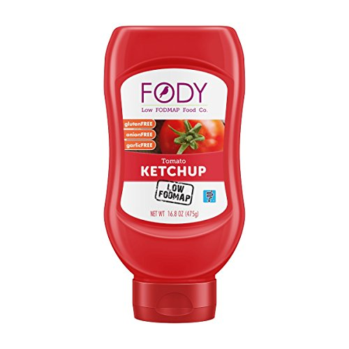 FODY - Low FODMAP Ketchup 16.8 Ounce Bottle, Gluten and Lactose Free IBS Friendly Low FODMAP Tested and Certified, Onion & Garlic Free