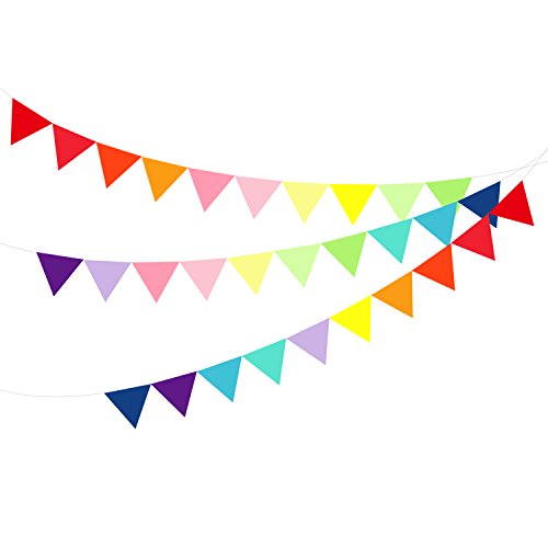 Felt Pennant Flags Bunting Banner Party (Rainbow Bunting)