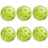 Jugs Bulldog Indoor Pickleballs (Green, 6-Pack)