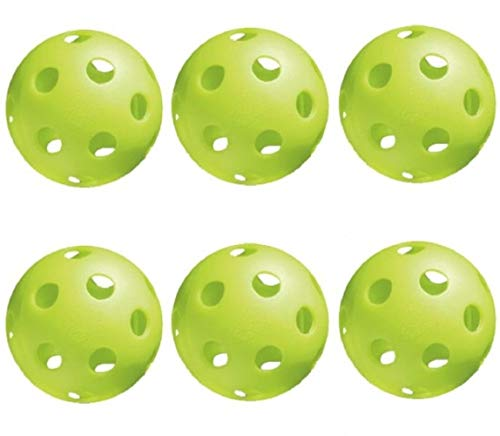 Jugs Pickleballs Lime Green - 6 Pack