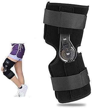 Soporte de rodilla ajustable - Soporte de tobillo ortopédico, rodilleras para adultos - Alta comodidad, compresión, fijación tibial, protección de rodilla(L)