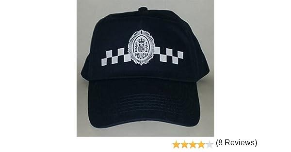 Gorra de Policia Local, con damero, Talla para niños y Adultos (Azul, Adultos): Amazon.es: Deportes y aire libre