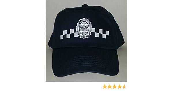 Gorra de Policia Local, con damero, talla para niños y adultos ...