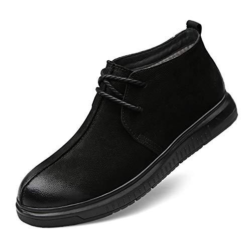 LOVDRAM Stiefel Männer Winter Schuhe Herren Halbschuhe Vielseitig Martin Stiefel Hoch, Um Männer Schuhe Pu Freizeitschuhe Zu Helfen
