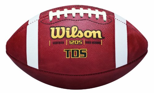Wilson TDS High School Leather Game Football (Football Wilson Leather)