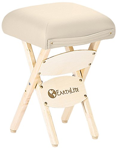 EARTHLITE Wooden Folding Stool – Hardwood Maple, CFC-Free, Massage Table Medical Spa Facial Salon Chair