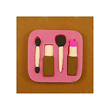 Elegante pintalabios de silicona para decoración de pasteles, jabón, chocolate, hornear, molde para molde: Amazon.es: Hogar