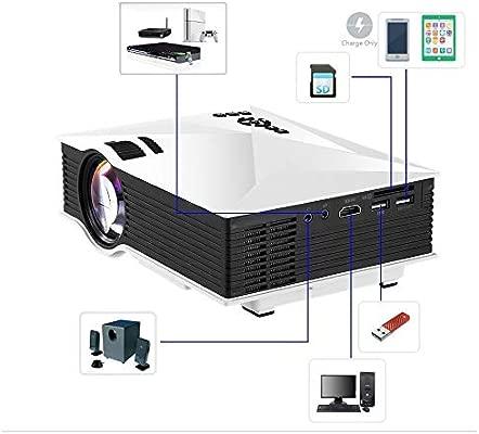 LTTLTT Proyector Portable Home HD 1080P Máquina Putter de Pantalla ...