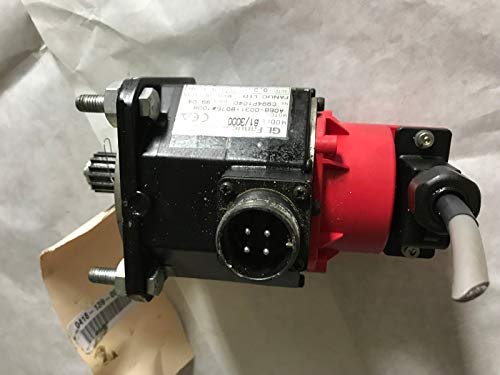 GE FANUC A06B-0031-B075#7008 AC SERVO MOTOR, B1/3000,0.3kW,144V 4.1A 3000RPM,AA