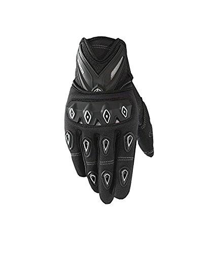 Scoyco MC10 Motorcycle Leather Gloves with Carbon Fiber Professional Motorcross Sports Gloves (Black, Medium)