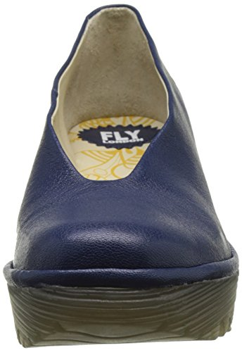 Fly London Women's Yaz Wedge Shoes Blue (Blue 202) avkI9I