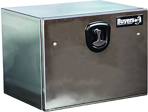 (Buyers Products Polished Stainless Steel Underbody Truck Box w/ T-Handle Latch (18x18x30 Inch))