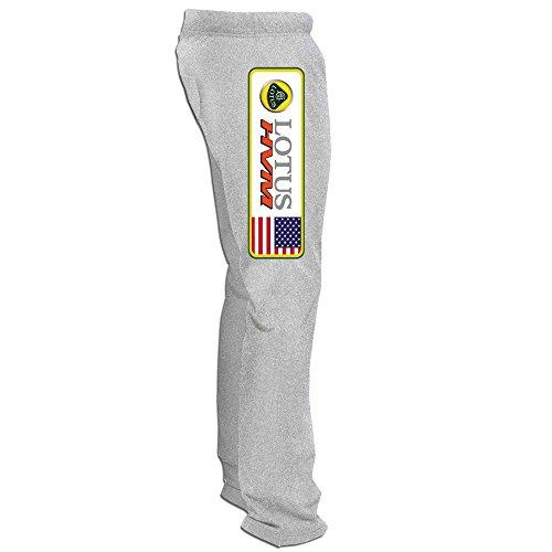 YOUARN Men's Lotus HVM Indycar Logo Running Pants Ash 3X