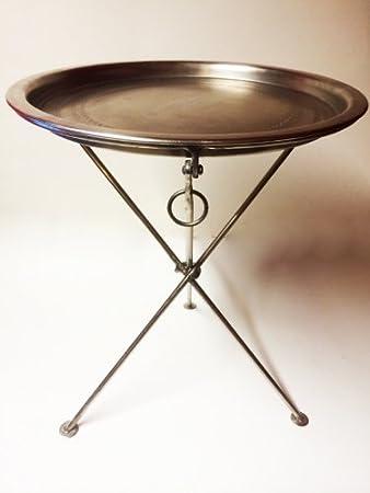 Marokkanischer Tisch Beistelltisch Aus Metall Sheila ø 40cm Rund
